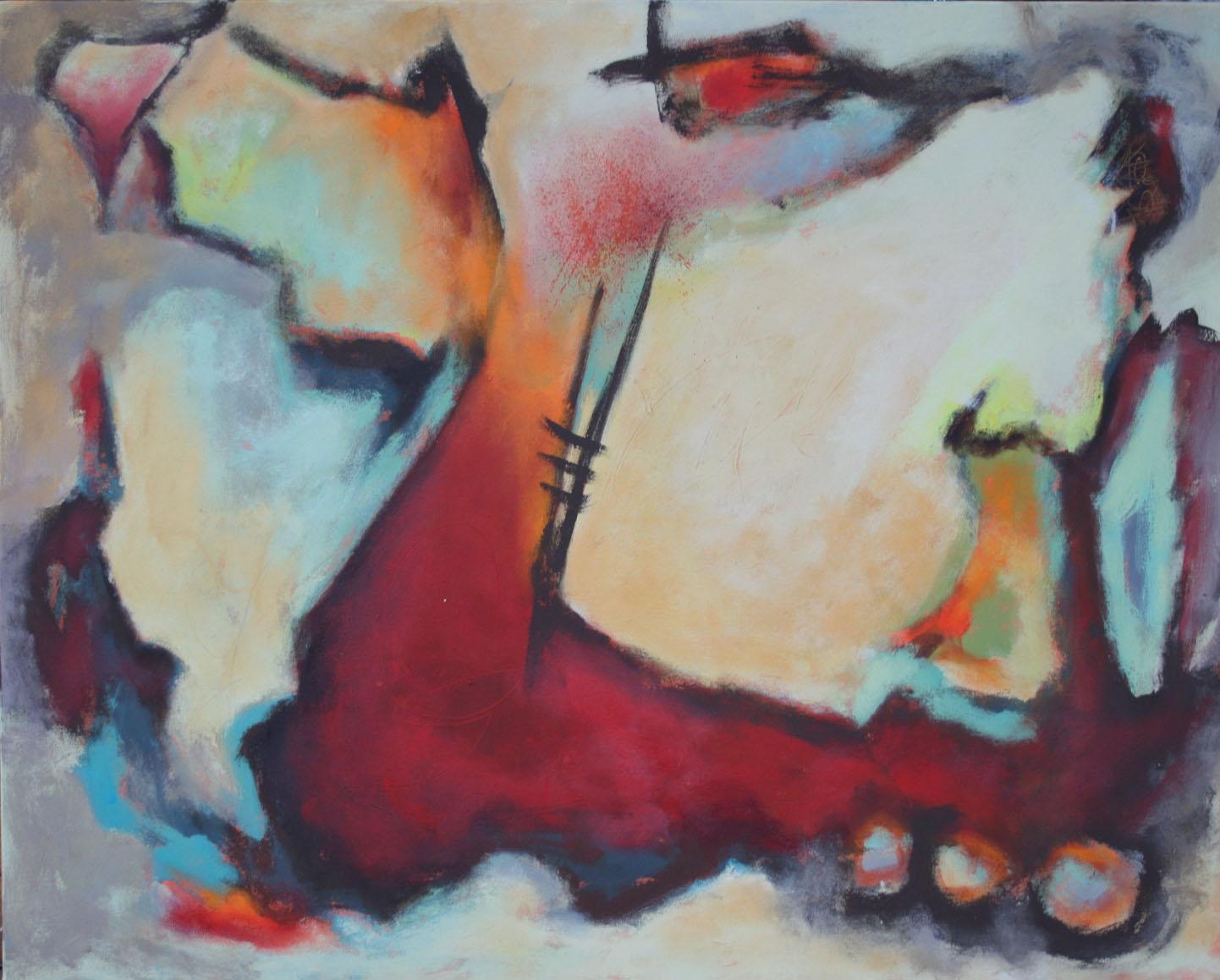 Echo, Öl und Acryl auf Leinwand, 80 x 100 cm