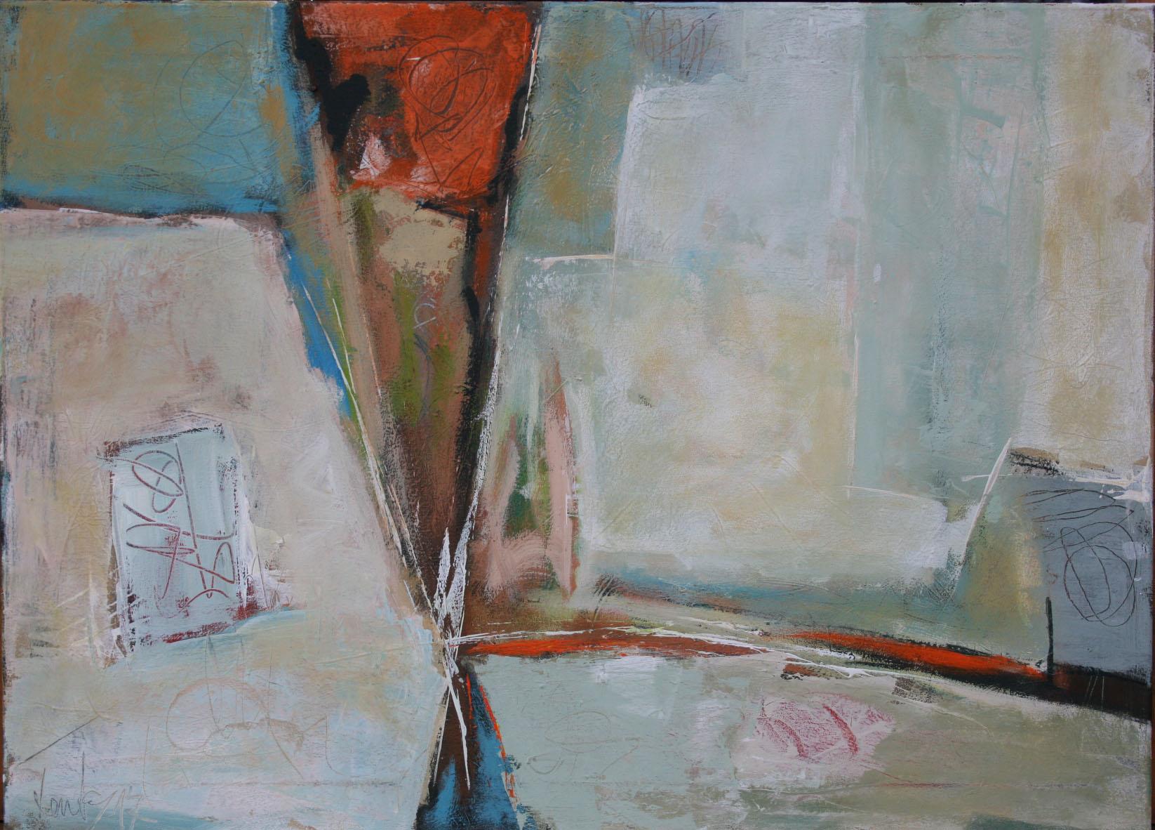 Frozen, Öl und Acryl auf Leinwand, 65 x 90 cm