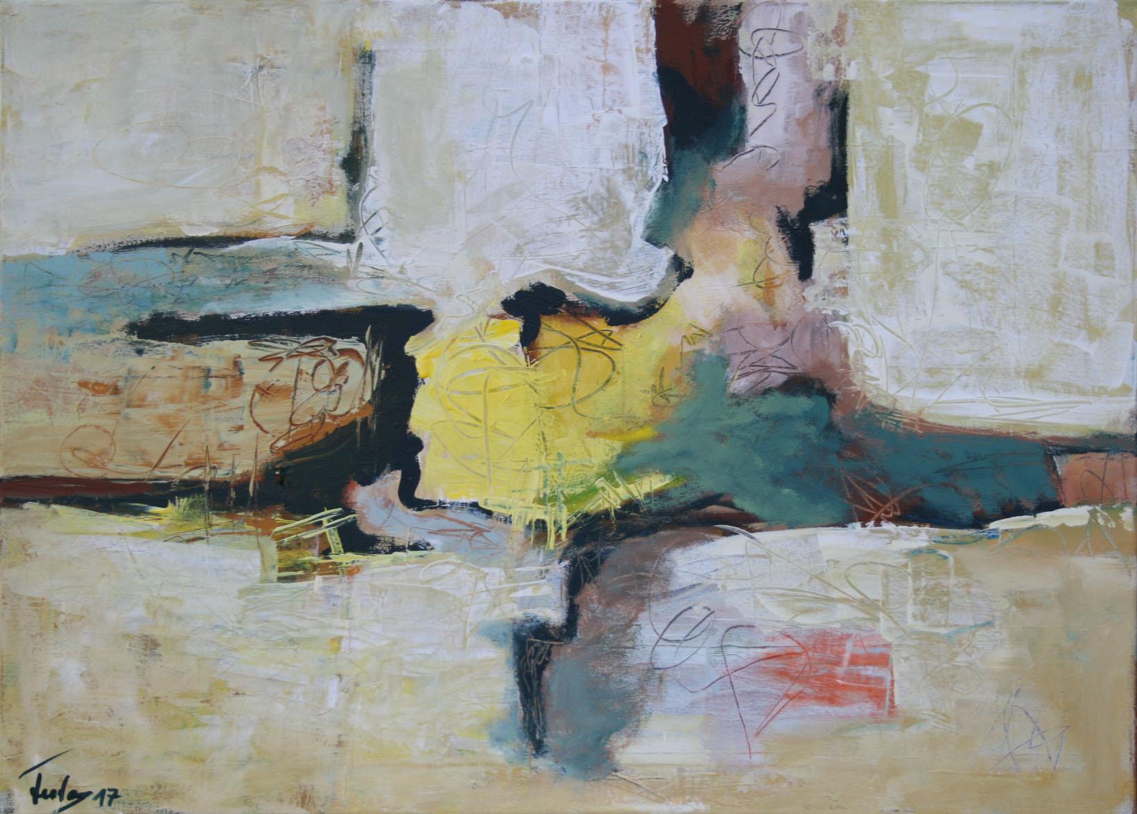 Fast Frühlimg, Öl und Acryl auf Leinwand, 65 x 90 cm
