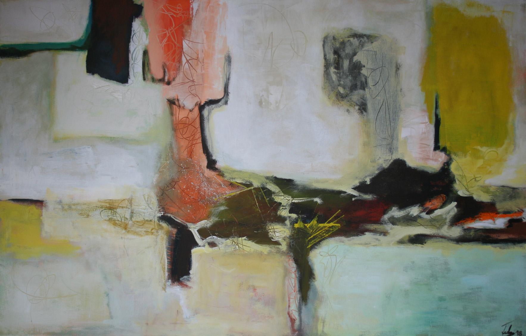 Ohne Titel 1803, Öl und Acryl auf Leinwand, 90 x 140 cm