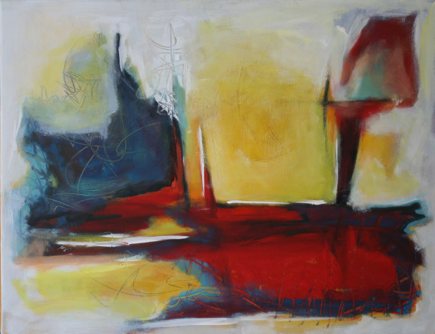 Freiheit I, , Öl und Acryl auf Leinwand, 58 x 76 cm