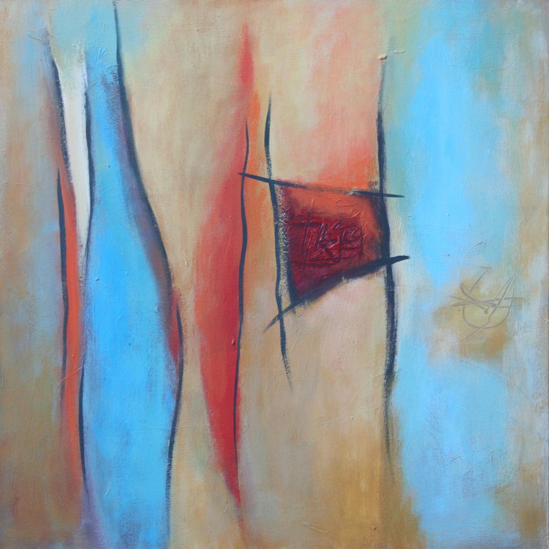 Wo ist das Meer II, Öl und Acryl auf Leinwand, 60 x 60 cm
