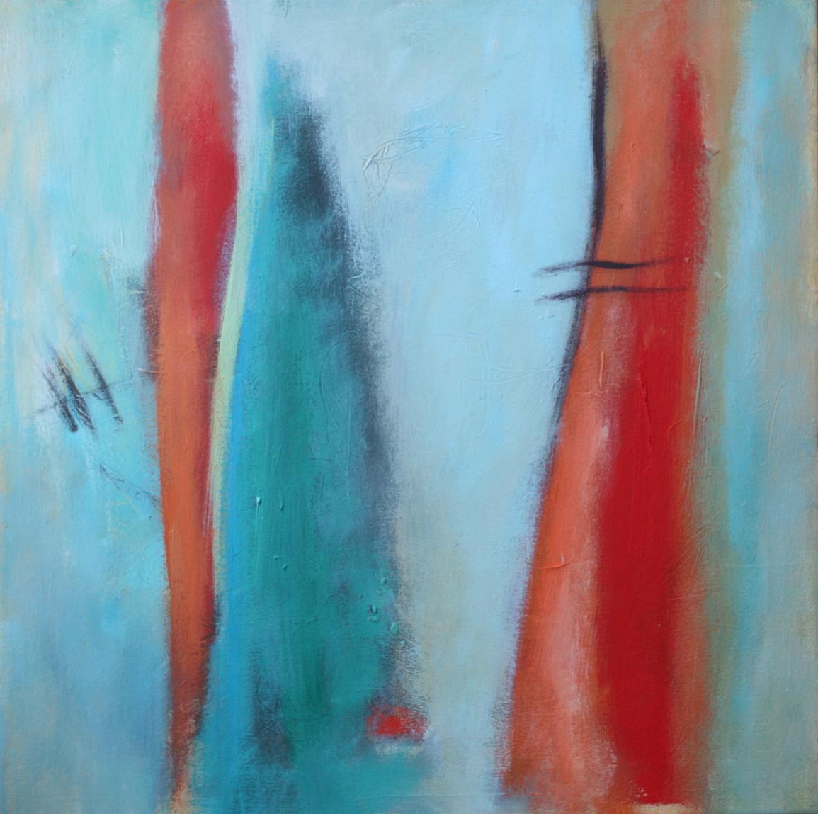 Im Nebel, Öl und Acryl auf Leinwand, 50 x 50 cm