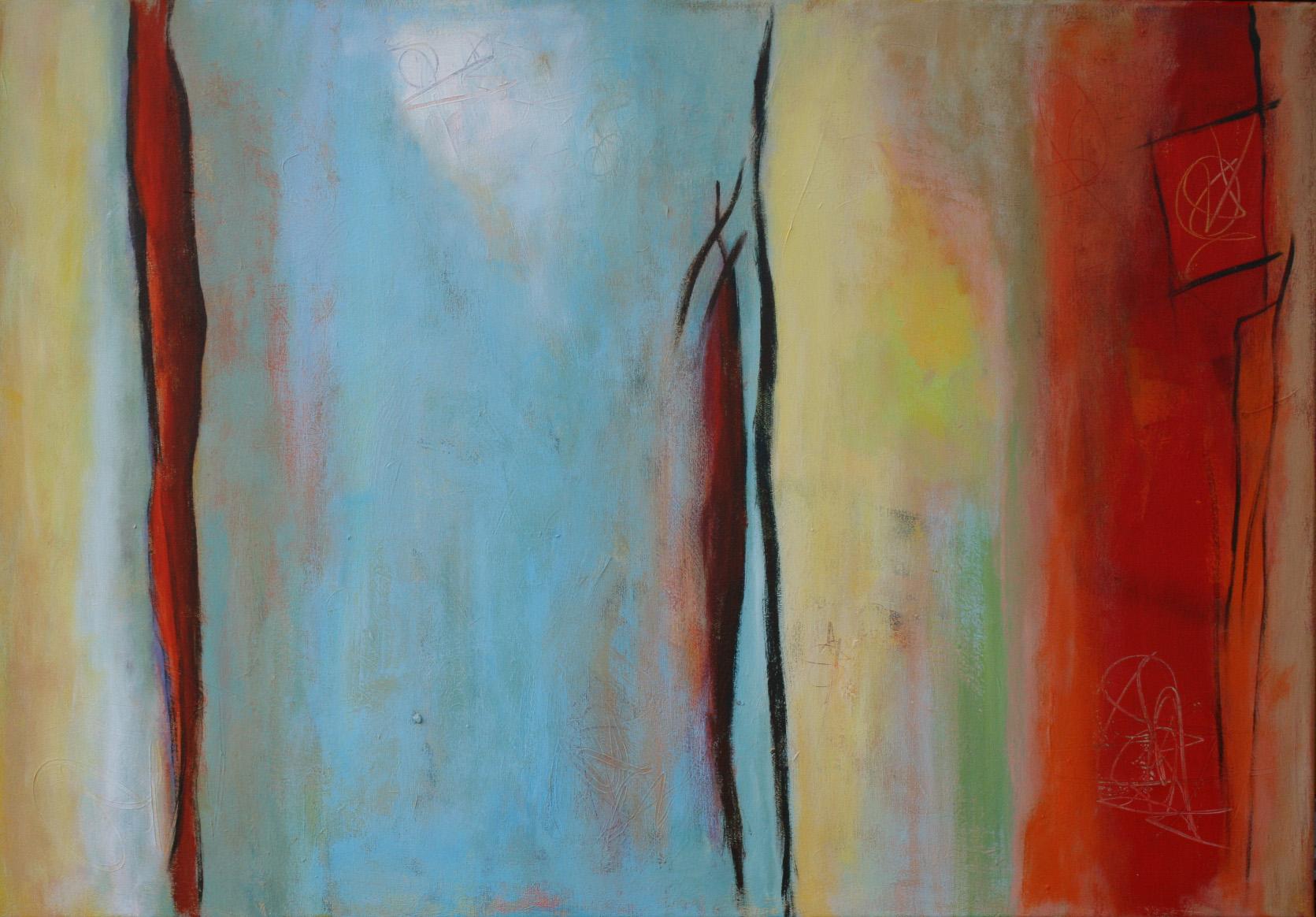 Silence II, Öl und Acryl auf Leinwand, 70 x 100 cm