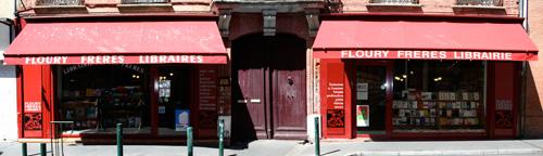 façade de la librairie Floury Frères rue de la Colombette à Toulouse