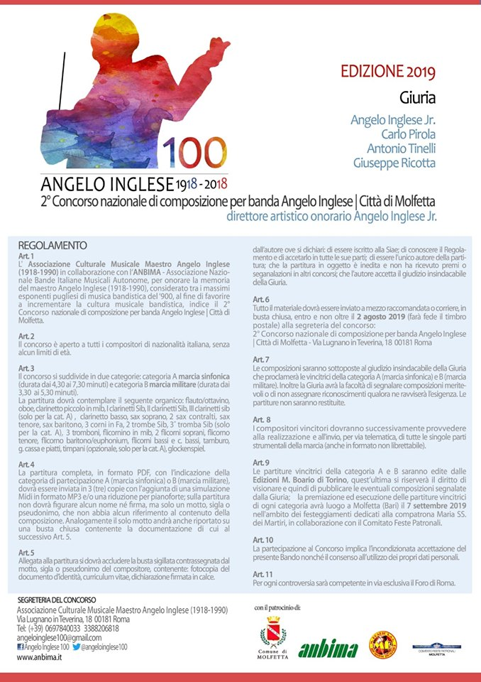News | Media - ANGELO INGLESE | Composer and Conductor
