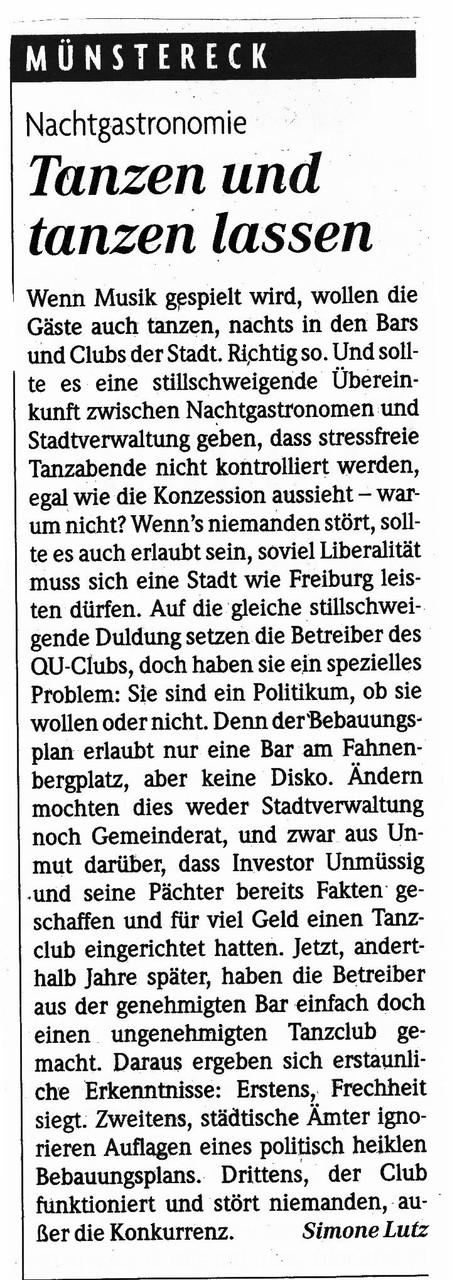 Badische Zeitung Freiburg 4.42015  - Kommentar