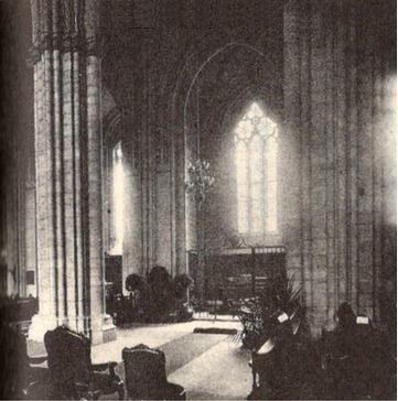 ウプサラ大聖堂内のスウェーデンボルグの墓所