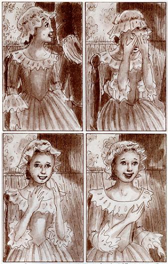 「天使を見せて!」少女は自分の姿が天使だと知って喜んだ