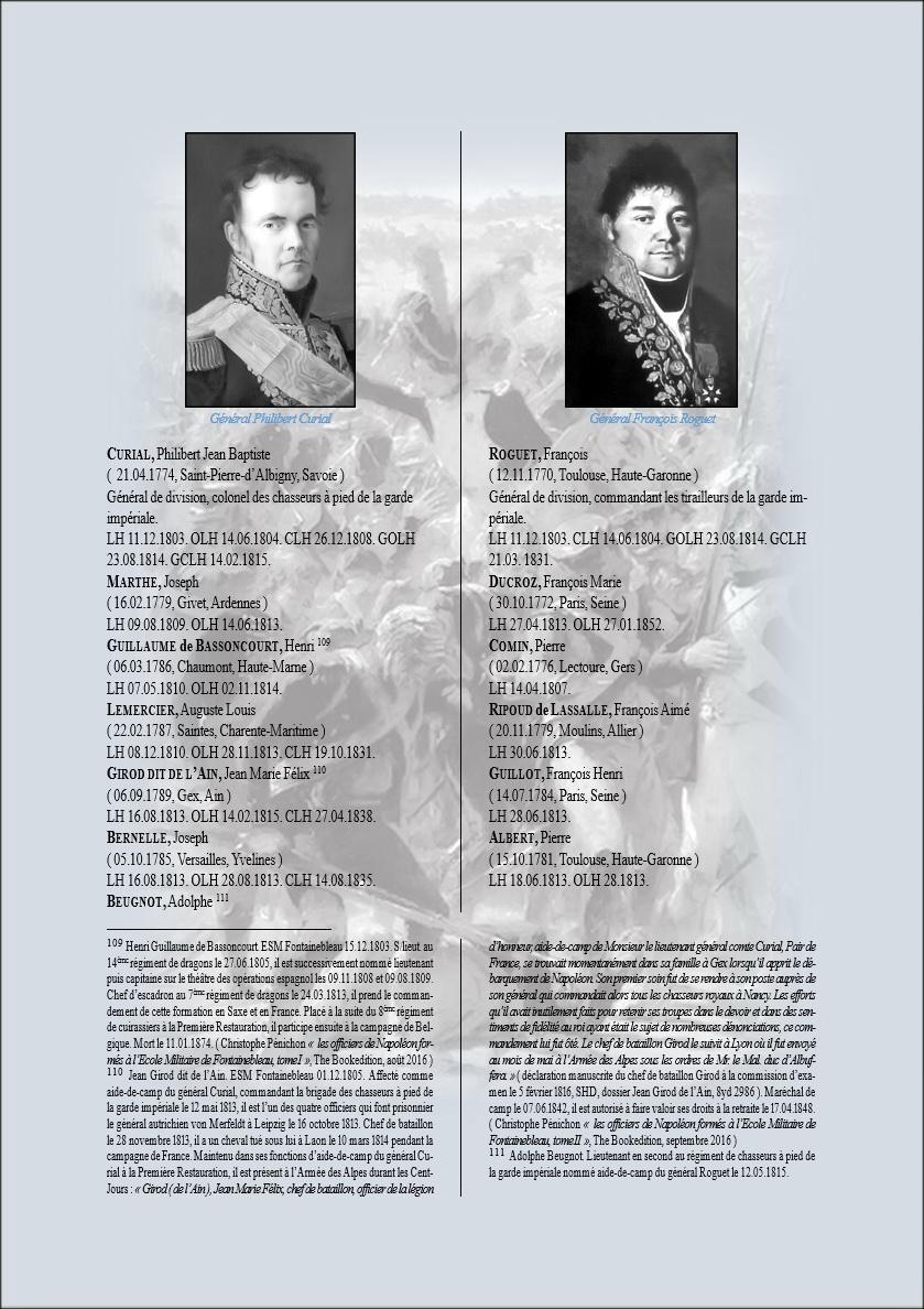 Général Philibert Curial et Général François Roguet