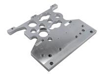 Das Bild zeigt ein Frästeil aus dem Material Aluminium