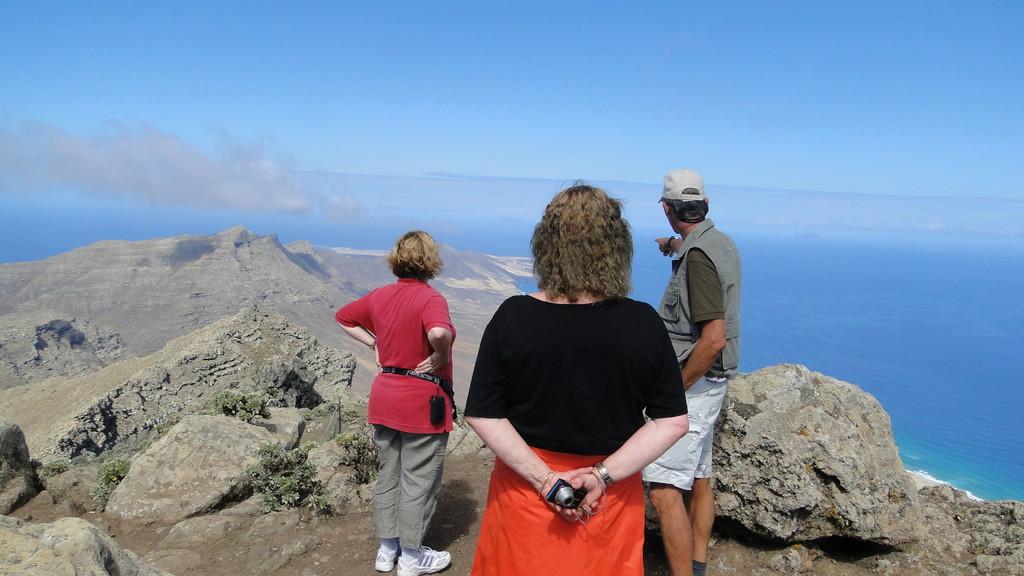Viele Erklärungen auf dem Pico de la Zarza