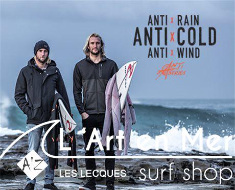 L'art en mer concept store Surf Shop Les Lecques Saint Cyr sur Mer vestes anti series Ripcurl