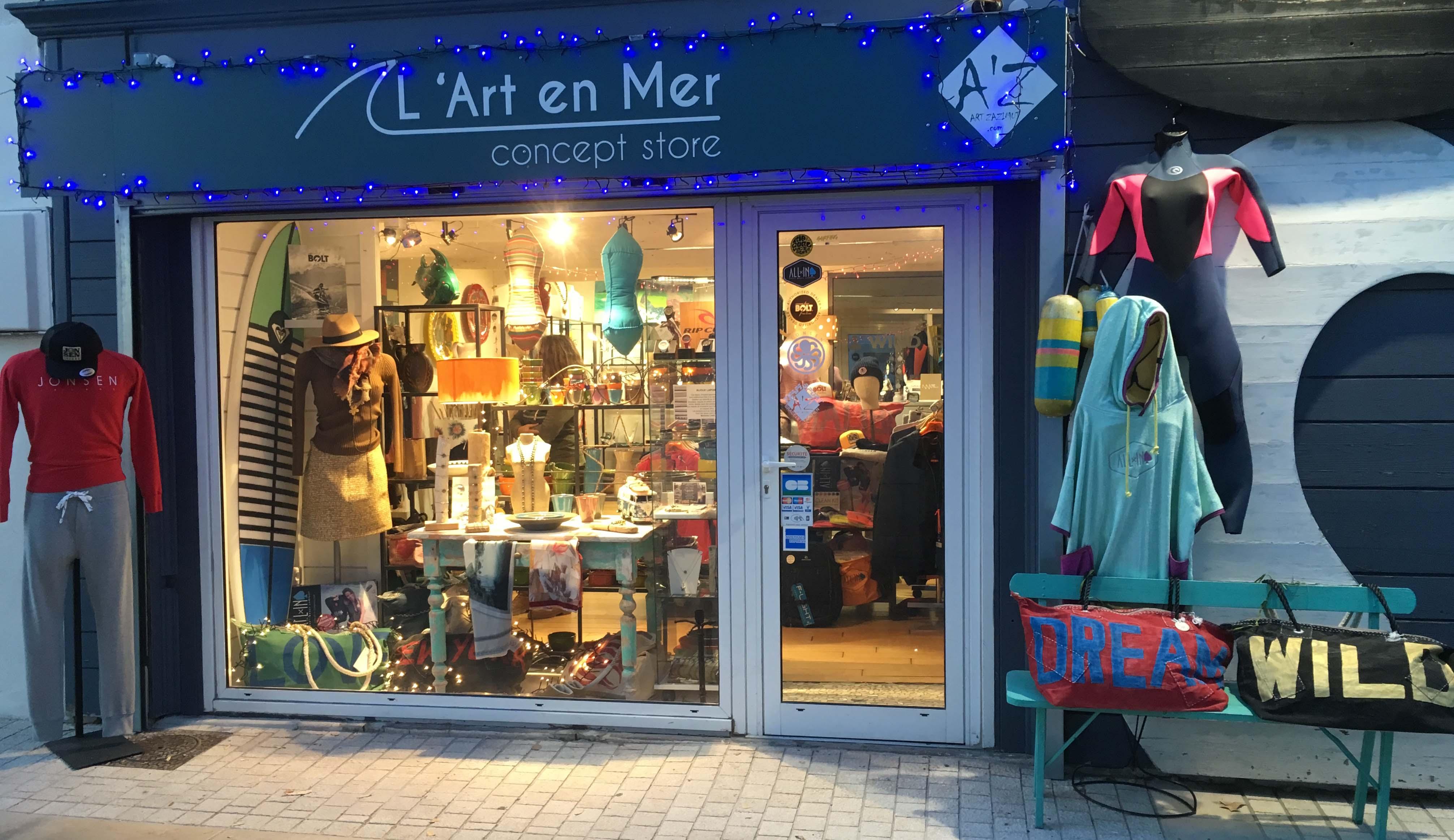 L'Art en Mer Concept Store & Surf Shop Les Lecques 66 avenue du Port