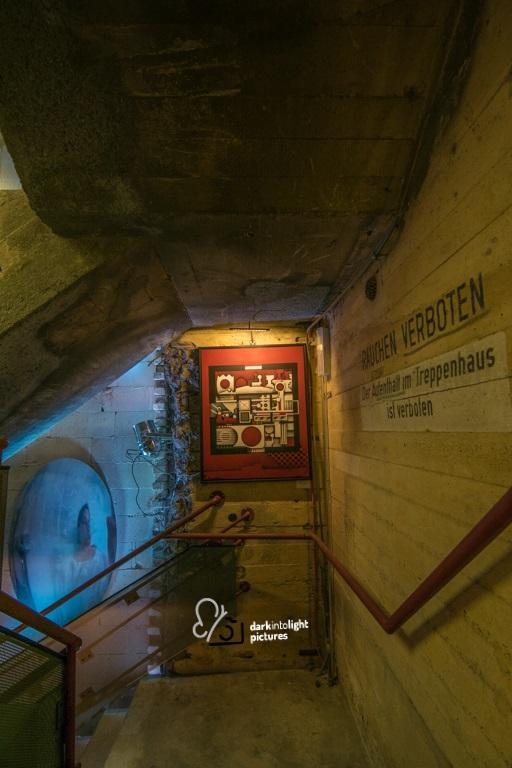 Kunst gesehen im Treppenhaus des Bunker-D