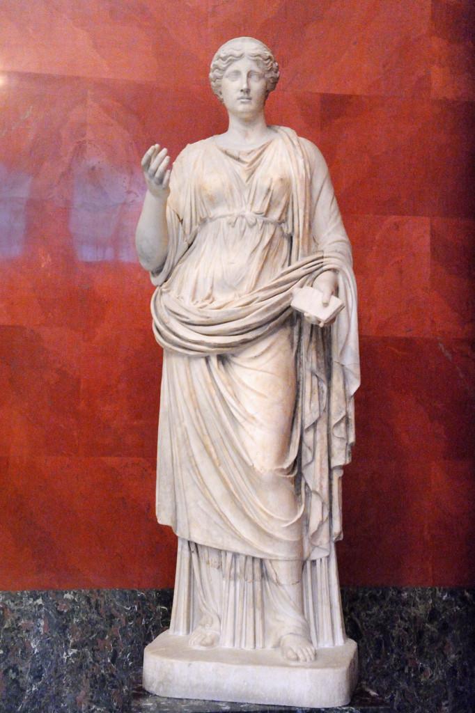 Каллиопа (Муза эпической поэзии). Римская копия по греческому оригиналу II-III в до н.э.