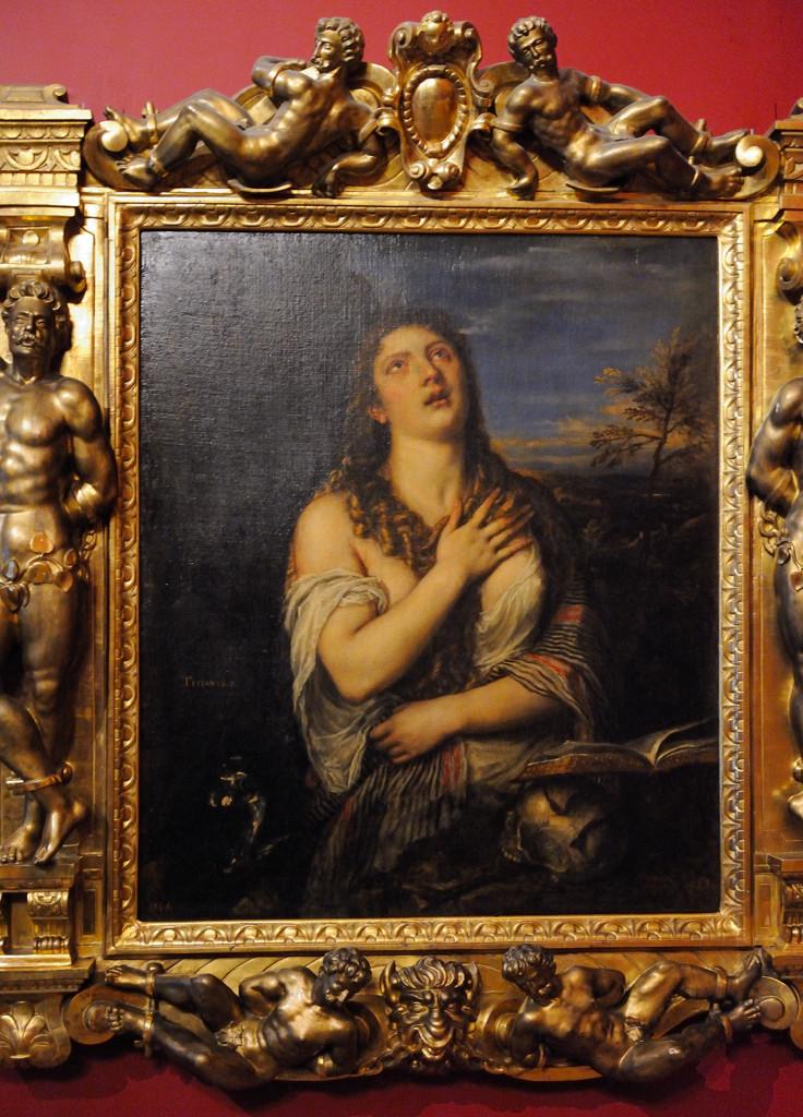 Тициа́н Вече́ллио. Кающаяся Мария Магдалина. 1565 г.
