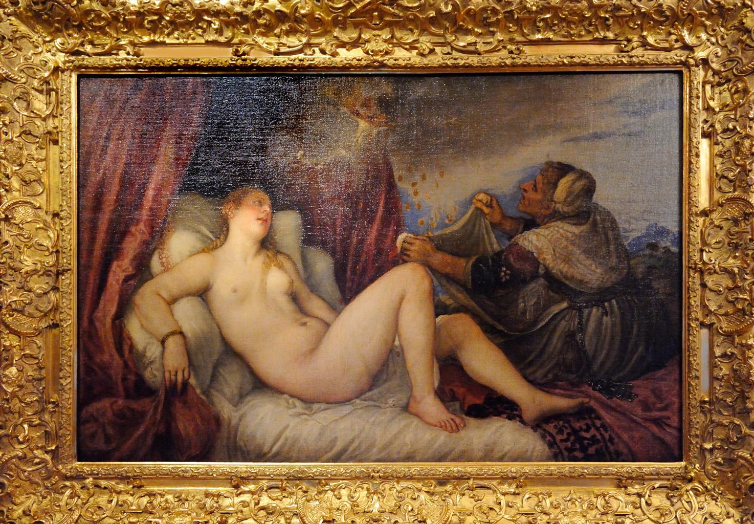 Тициан Вечеллио. Даная (1553-1554).