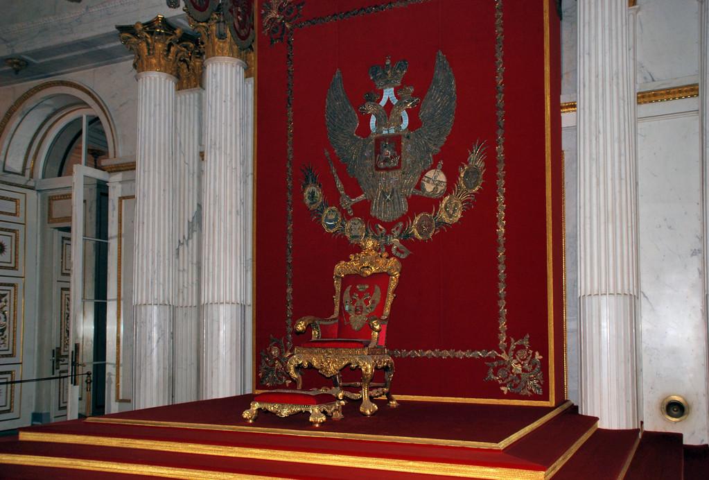Зимний дворец. Большой тронный зал.