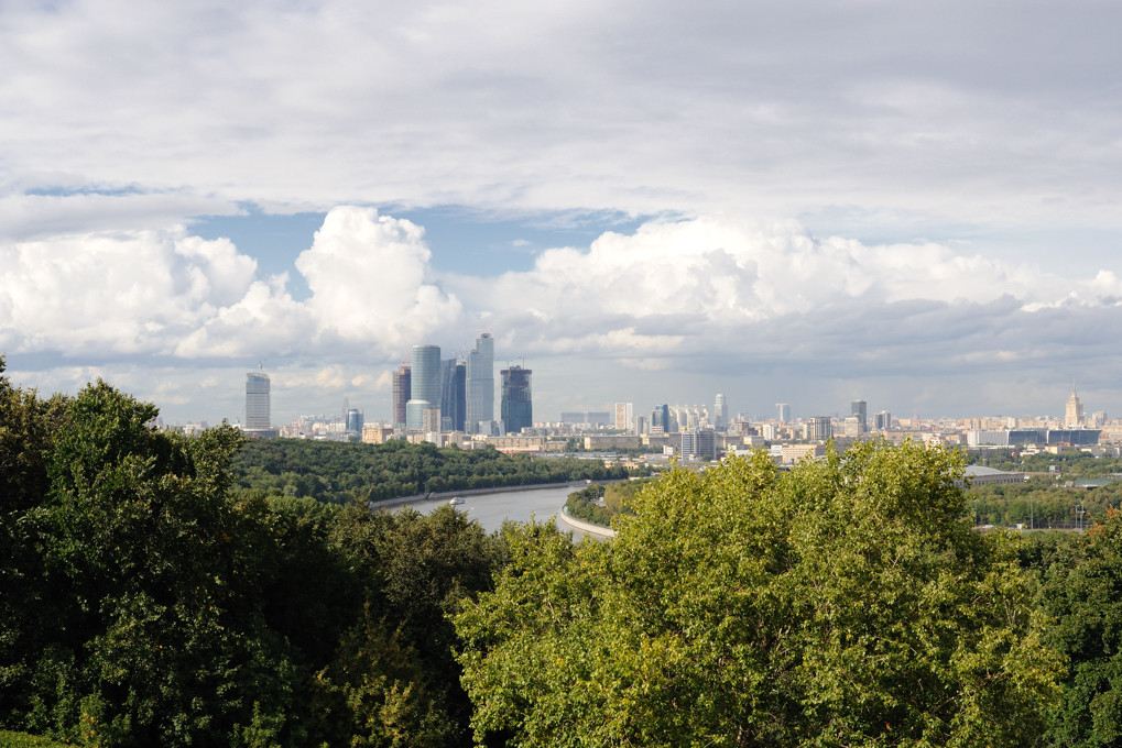 Вид на Москва - сити с Воробьевых гор.