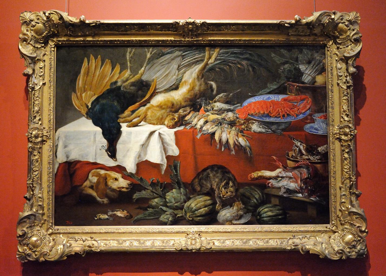 Вос, Паувель (Пауль) де. 1596. Натюрморт с битой дичью и омаром.