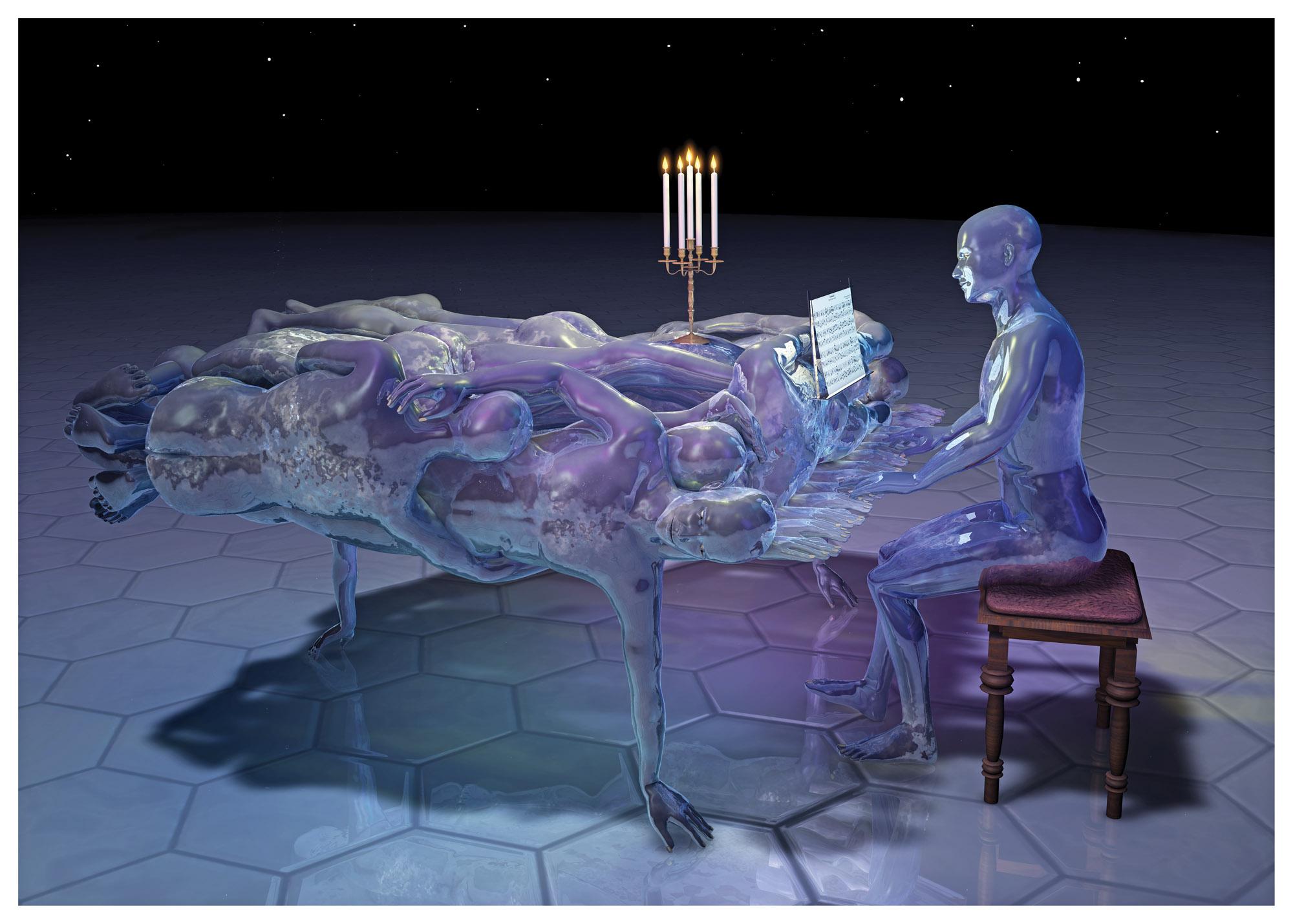 Piano, 2012, 70x100 cm
