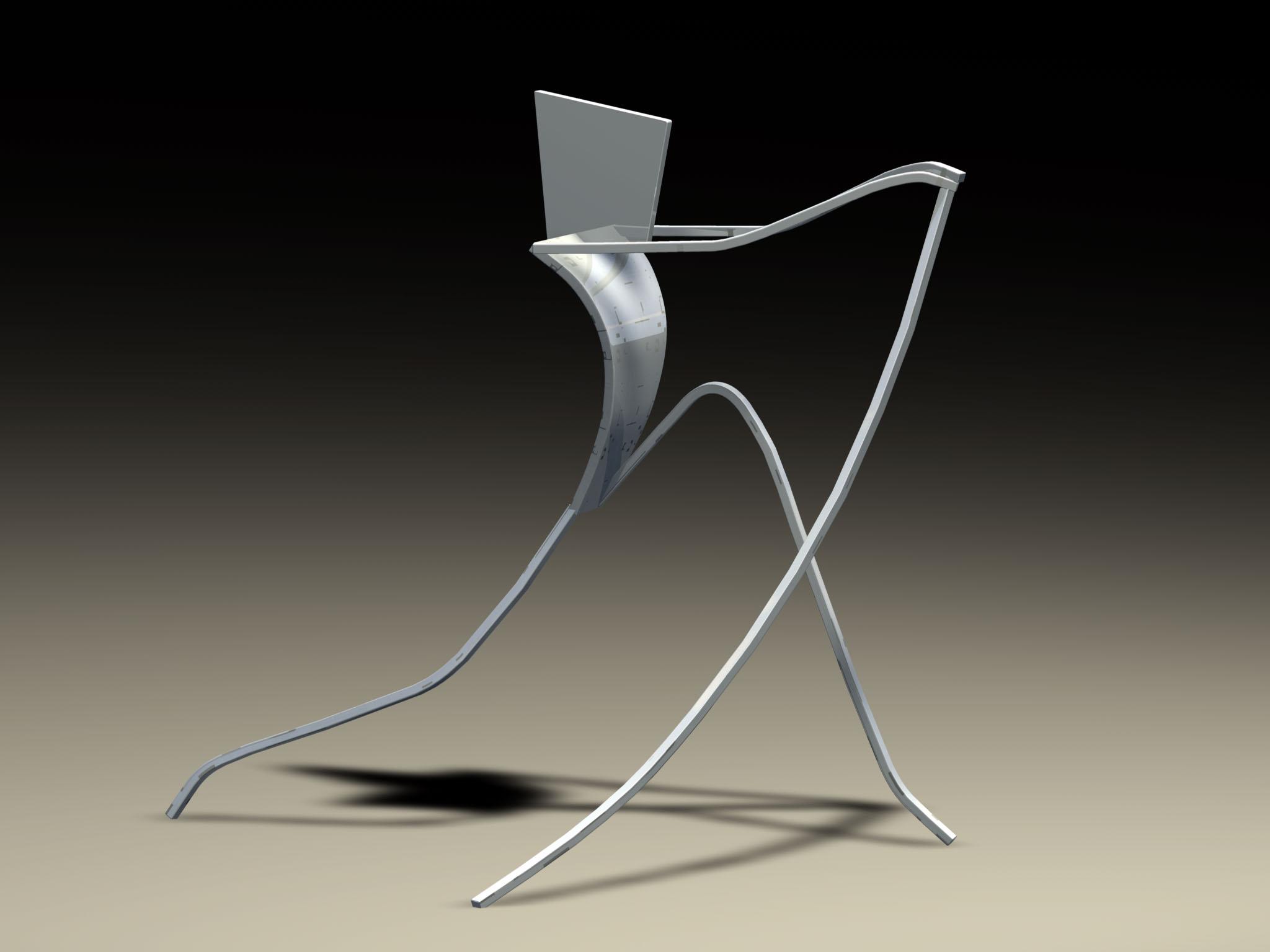 Athlet, 1994, Aluminium, 180x100x200 cm