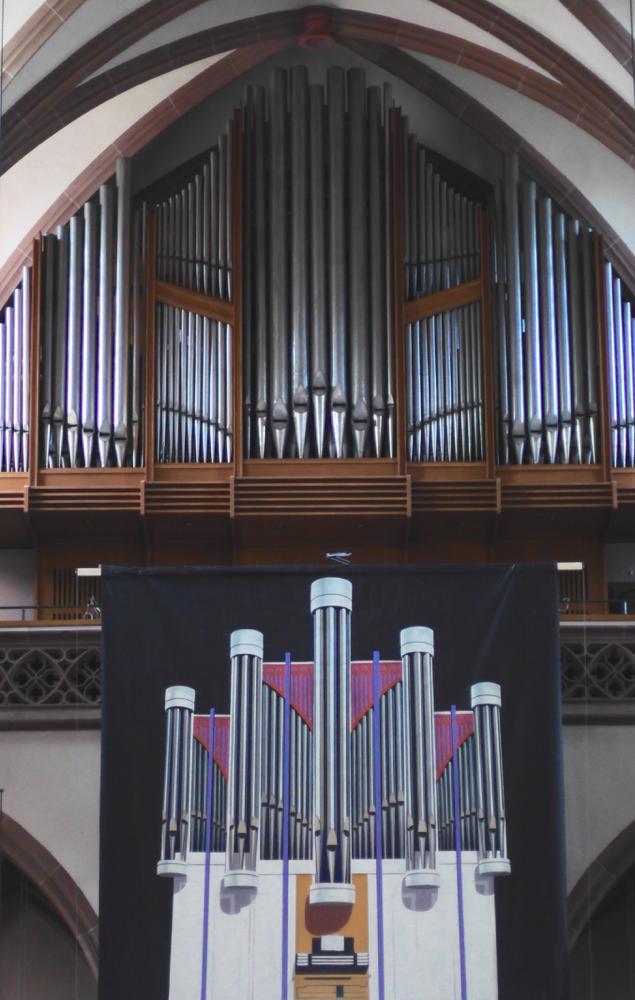 Die alte Orgel und die neue als Plakat