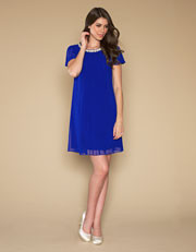 Monsoon Cobalt blue sheer dress