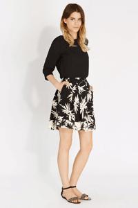 Oasis Palm Print Skater Skirt