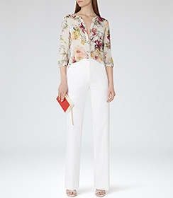 Reiss Silk Print Blouse