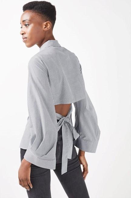 Topshop Tie Back Shirt