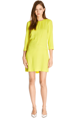 Yellow shift dress Warehouse