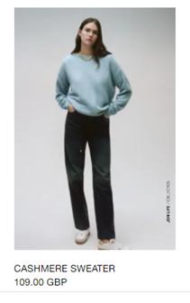 cashmere jumper Zara