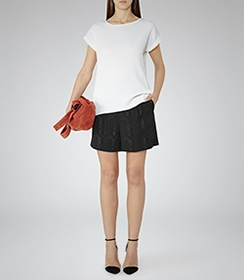 Reiss Textured woven top