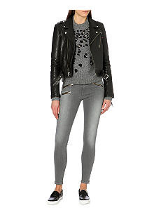 Rag and Bone Grey Zip Hem skinny jeans