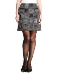 jacquard tweed mini skirt M&S