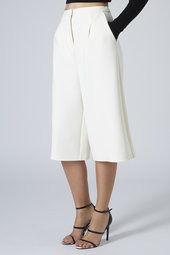 Topshop white pleat front Culottes