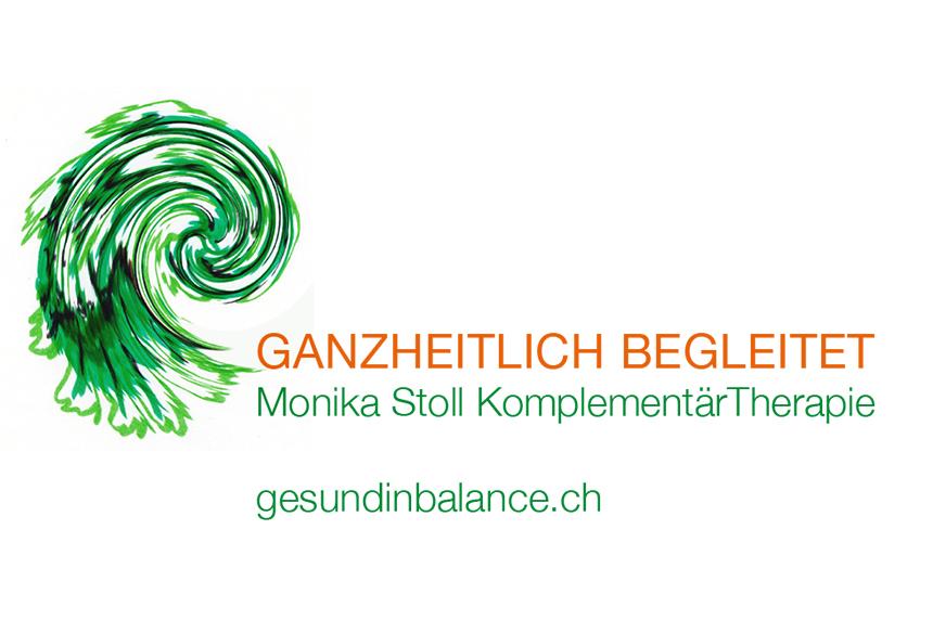 Logo und Visitenkarte Monika Stoll