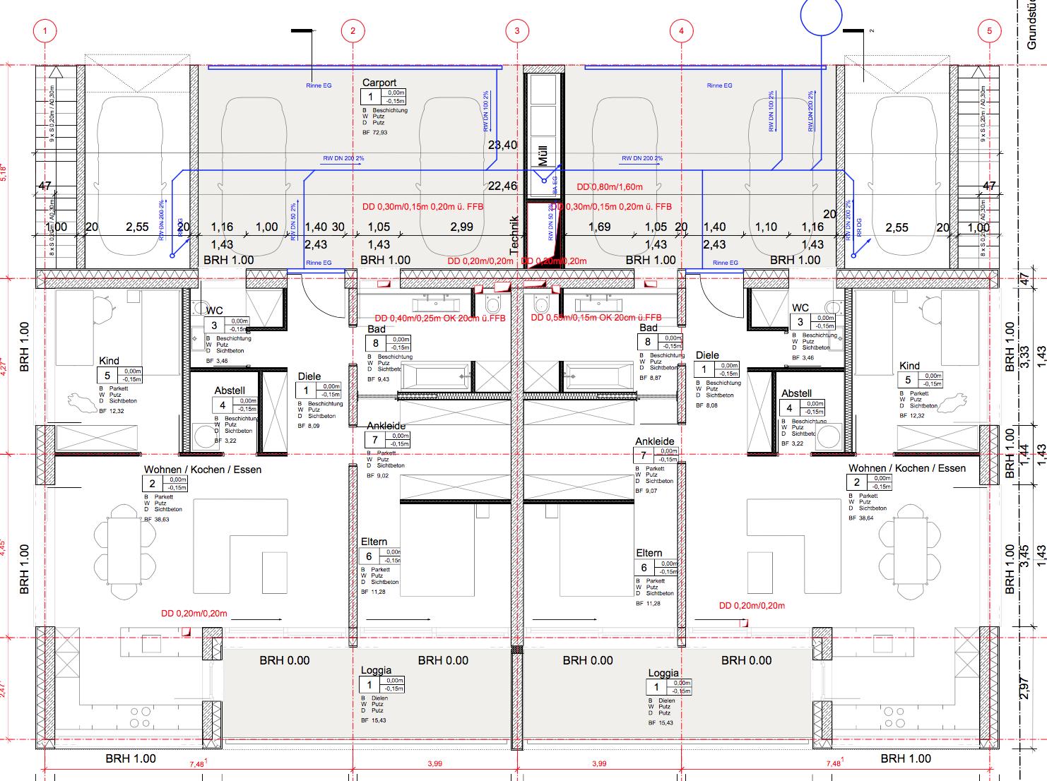 generierter Werkplan - Ebene 1