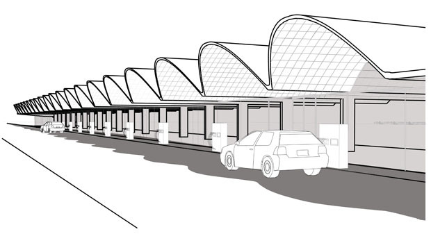 Entwurf Autobahnraststätte, Stuttgart
