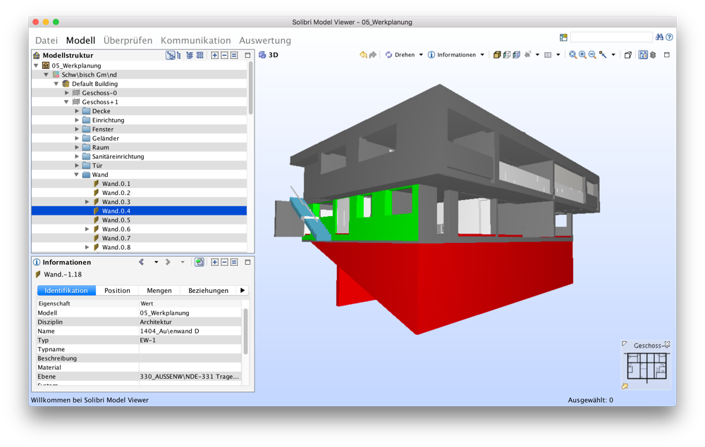 Vectorworks BIM im Solibri Model Checker