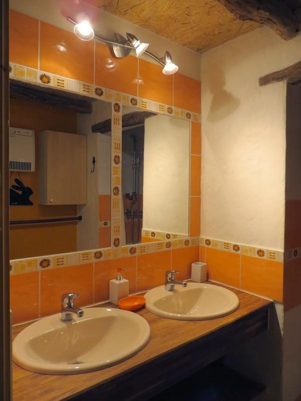 salle d'eau avec deux vasques