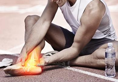 Plantarfasciitis, Fernsensporn, Achillodynie, Achillessehnenentzündung, Achillessehnenriss, Supinationstrauma, Knöchelbruch
