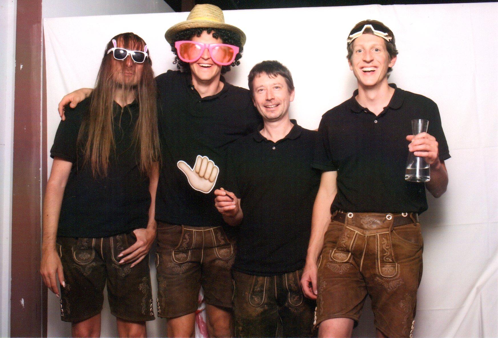 bayrische Partyband Alpfuier in action