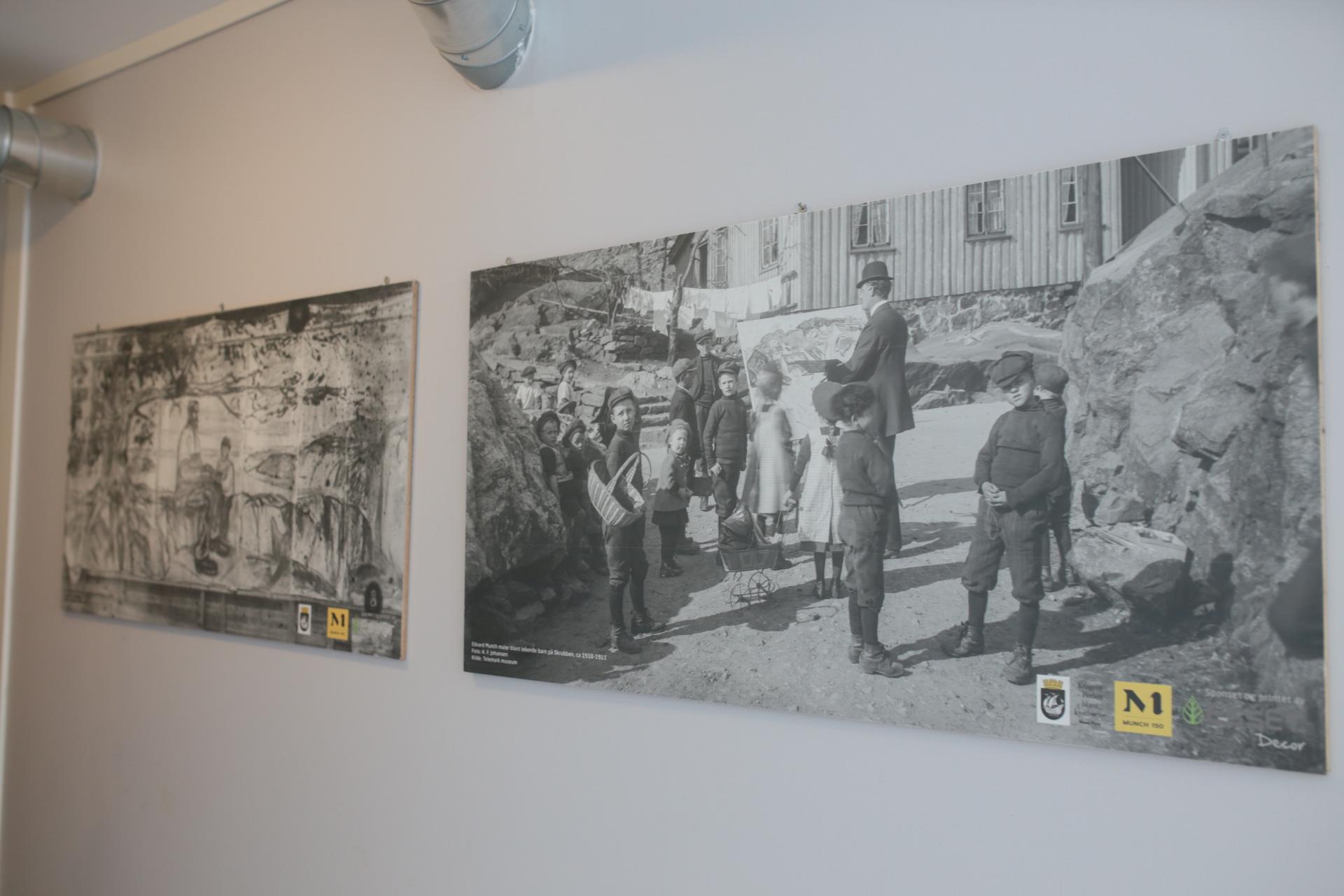 当時のクラーゲリョー、ムンクの制作風景。私は画集でこの写真からクラーゲリョーを子供の頃から知っていました。