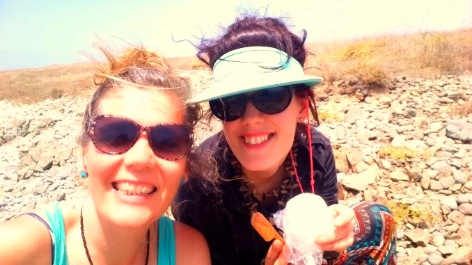 Eating fresh goat cheese at the weirdest places: this time on the small island close to Sal Rei, Boa Vista.