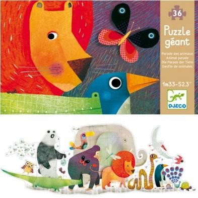 """<FONT size=""""5pt"""">Puzzle Géant La parade des animaux - <B>18,90 €</B> </FONT>"""