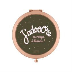 """<FONT size=""""5pt"""">Miroir de poche J'adooore  - <B>9,00 €</B> </FONT>"""