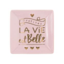 """<FONT size=""""5pt"""">Vide-poches la vie est belle  - <B>6,50 €</B> </FONT>"""